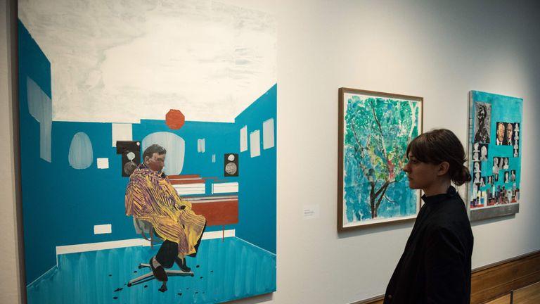 Hurvin Anderson's artwork 'Peter's Sitters III'
