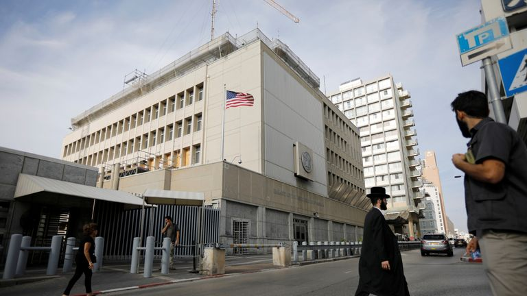 The US Embassy in Tel Aviv