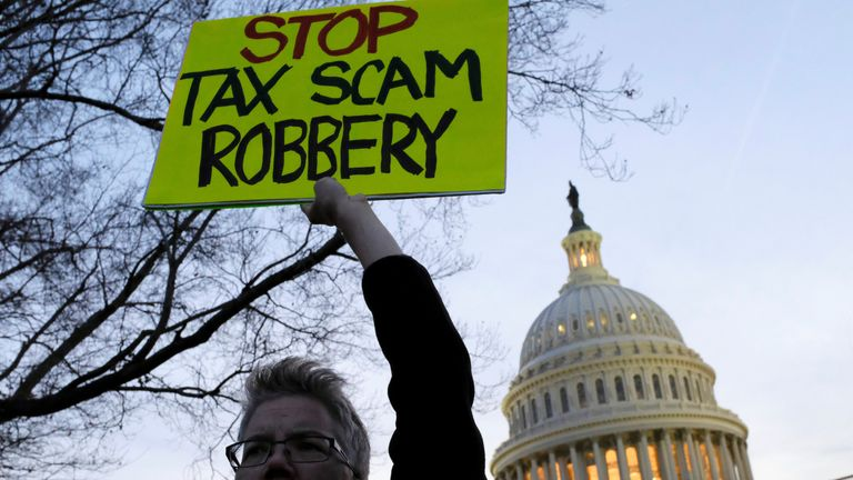 Proposals for the sweeping tax overhaul had been met with protests and opposition