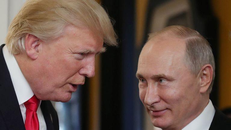 Vladimir Putin Donald And I Are On First Name Terms World News Sky News