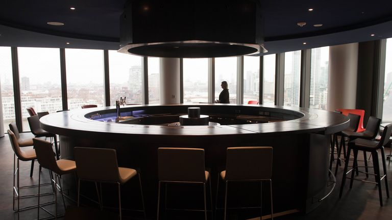 The bar at the US Embassy in Nine Elms, south London