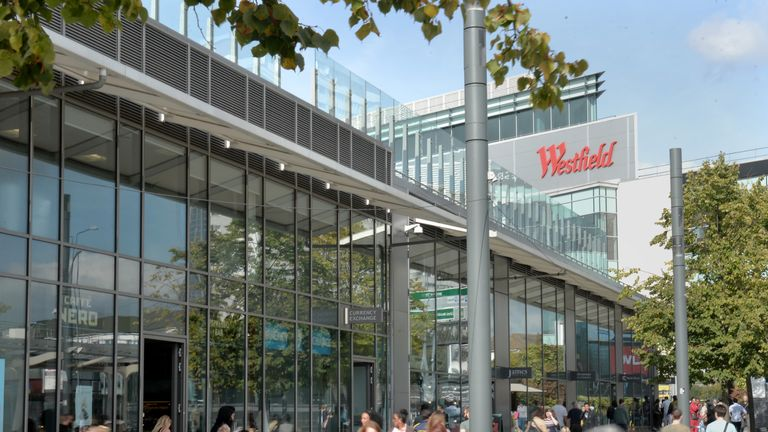 Westfield shopping centre in White City, west London