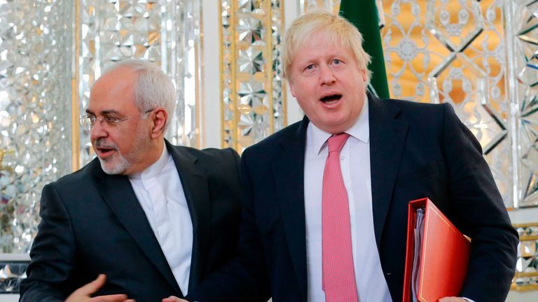 Boris Johnson and Mohammed Javad Zarif met in Tehran