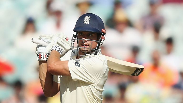 MELBOURNE, AUSTRALIA - DECEMBER 27:  Alastair Cook of England bats during day two of the Fourth Test Match in the 2017/18 Ashes series between Australia an