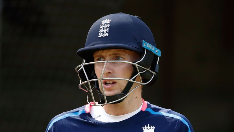 MELBOURNE, AUSTRALIA - DECEMBER 23:  Joe Root of England looks on during an England nets session at the Melbourne Cricket Ground on December 23, 2017 in Me