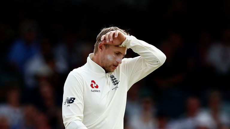 PERTH, AUSTRALIA - DECEMBER 16: Joe Root of England looks on during day three of the Third Test match during the 2017/18 Ashes Series between Australia and