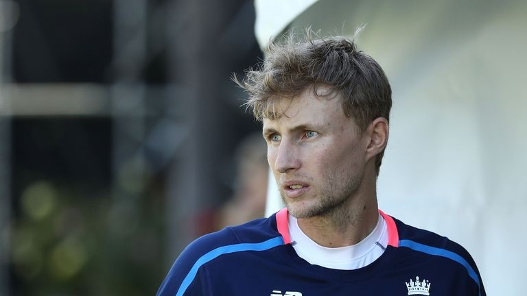 Joe Root of England looks on during an England nets session ahead of the Third Test of the 2017/18 Ashes Series at the WACA