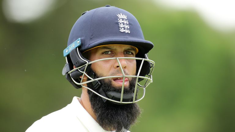 PERTH, AUSTRALIA - DECEMBER 09: Moeen Ali of England leaves the field after being caught by Josh Philippe of the Cricket Australia XI during the Two Day to