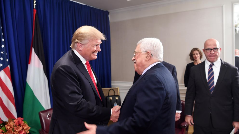 Donald Trump met Palestinian leader Mahmoud Abbas in September 2017 and has now told him he wants to relocate the US Embassy, according to Palestinian officials