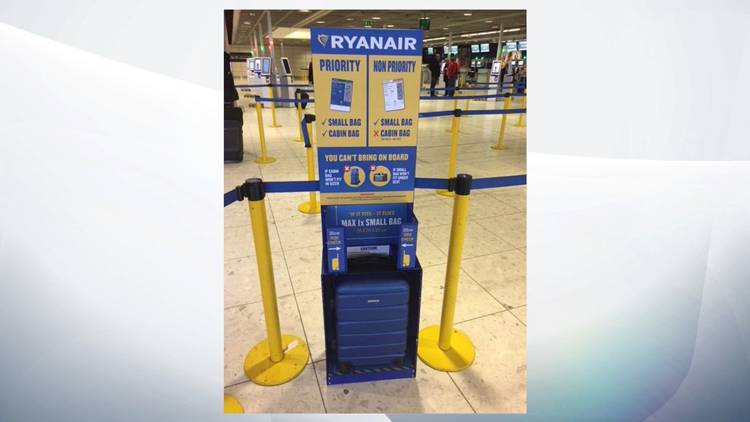 Ryanair's new cabin bag policy from today