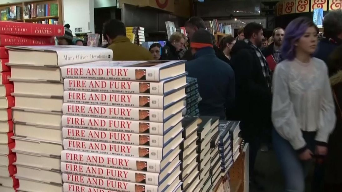 Fire And Fury Inside The Trump White House sold out in 20 minutes at Kramerbooks in Washington DC