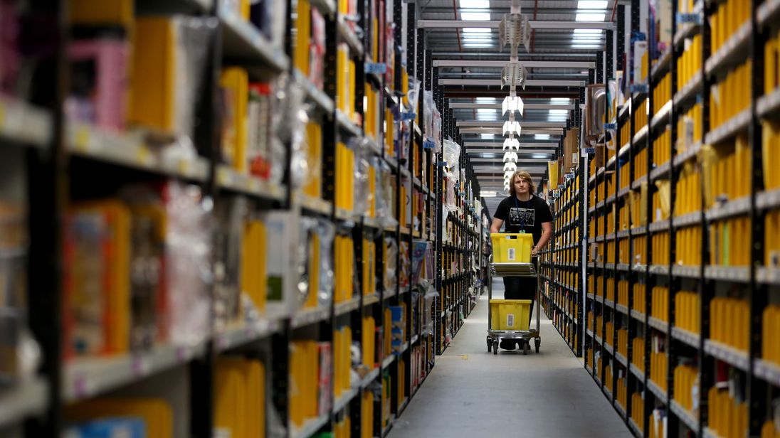 Amazon currently operates a network of 16 UK fulfilment centres
