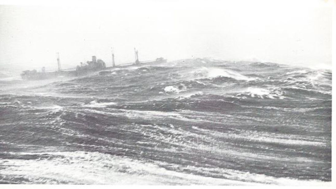 Pic sent in by Rose Gretton - horrid Atlantic sea conditions