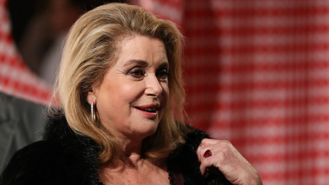 Catherine Deneuve arrives for a Surrealist Dinner Party at the Monte Carlo Casino in Monaco