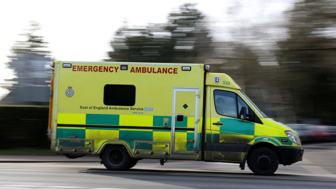 An East of England Ambulance is driven along the road in Cambridge. Picture by: Chris Radburn/PA Archive/PA Images Date taken: 26-Jan-2015 Image size: 5355 x 3505 Image ref #: 22059377