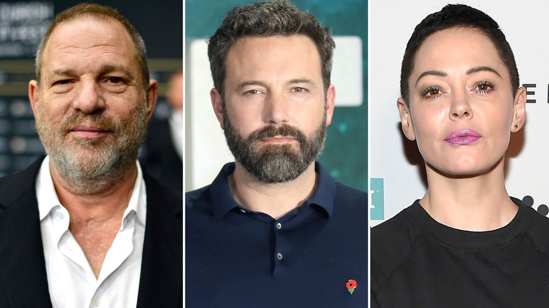 Harvey Weinstein, Ben Affleck and Rose McGowan