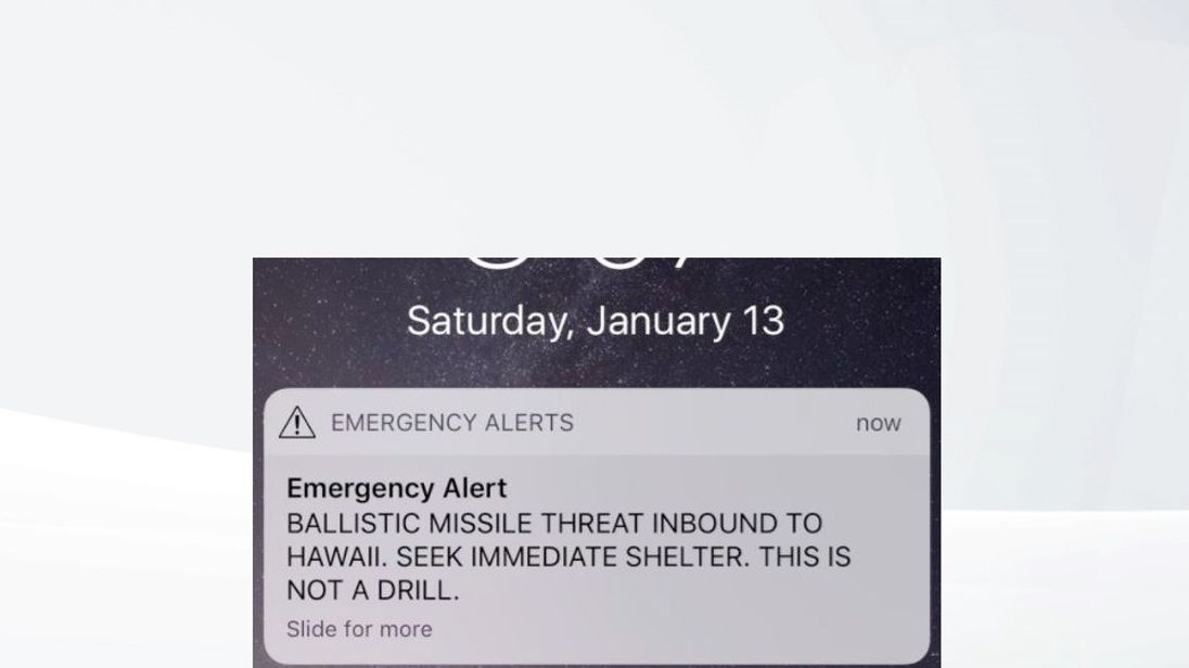 Alert for false alarm missile threat