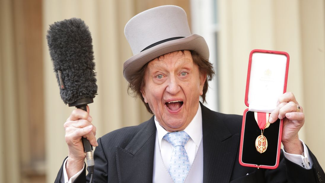 Sir Ken Dodd was knighted in March 2017