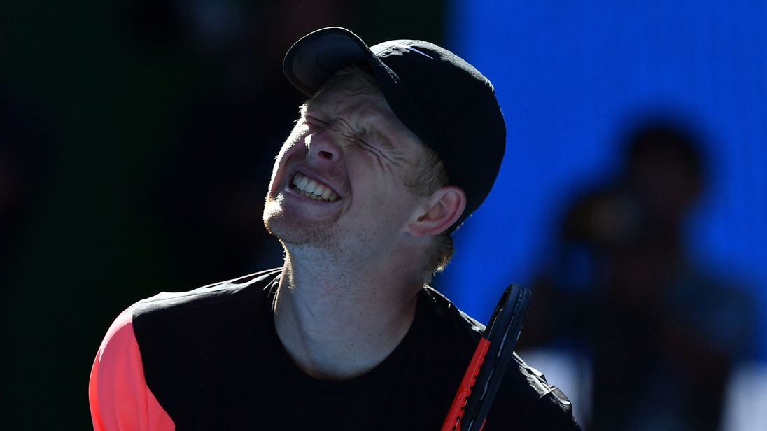 Kyle Edmund is through to his first grand slam semi-final