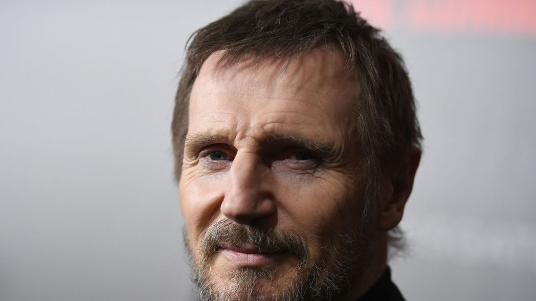 Actor Liam Neeson attends the New York premiere of 'The Commuter' at AMC Loews Lincoln Square on January 8, 2018. / AFP PHOTO / ANGELA WEISS (Photo credit should read ANGELA WEISS/AFP/Getty Images)