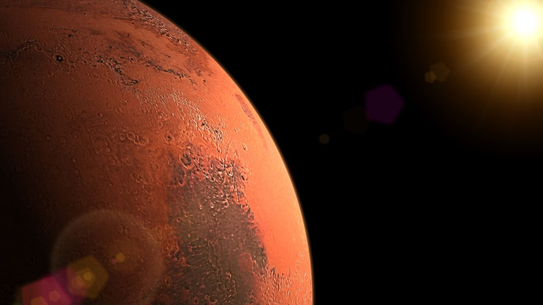 life on mars 12 mile liquid water lake found on red planet