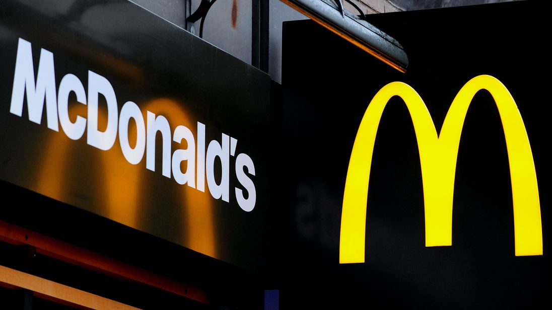File photo dated 07/02/13 of a McDonald's logo, as the fast-food giant is facing its first ever strike in the UK as workers at two sites walk out in a dispute over pay and conditions.