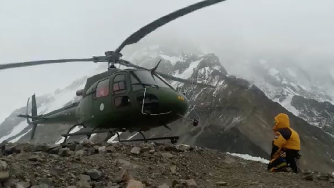Stranded on Nanga Parbat mountain: one rescued, one still waiting