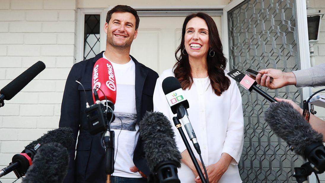 Jacinda Ardern and Clarke Gayford