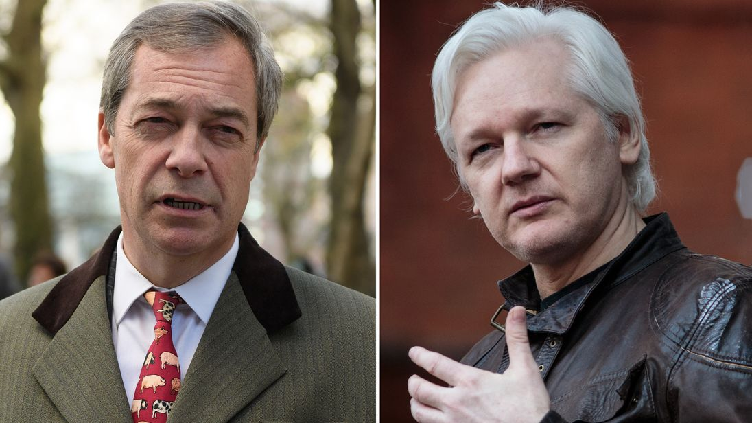 Nigel Farage and Julian Assange