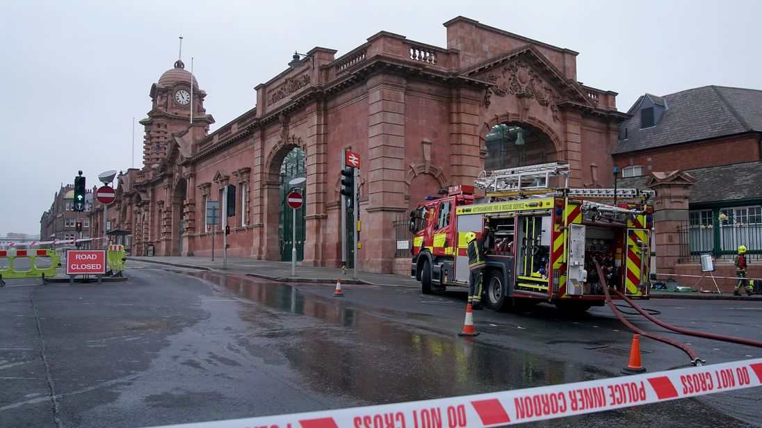 The fire began in some toilets at about 6.30am