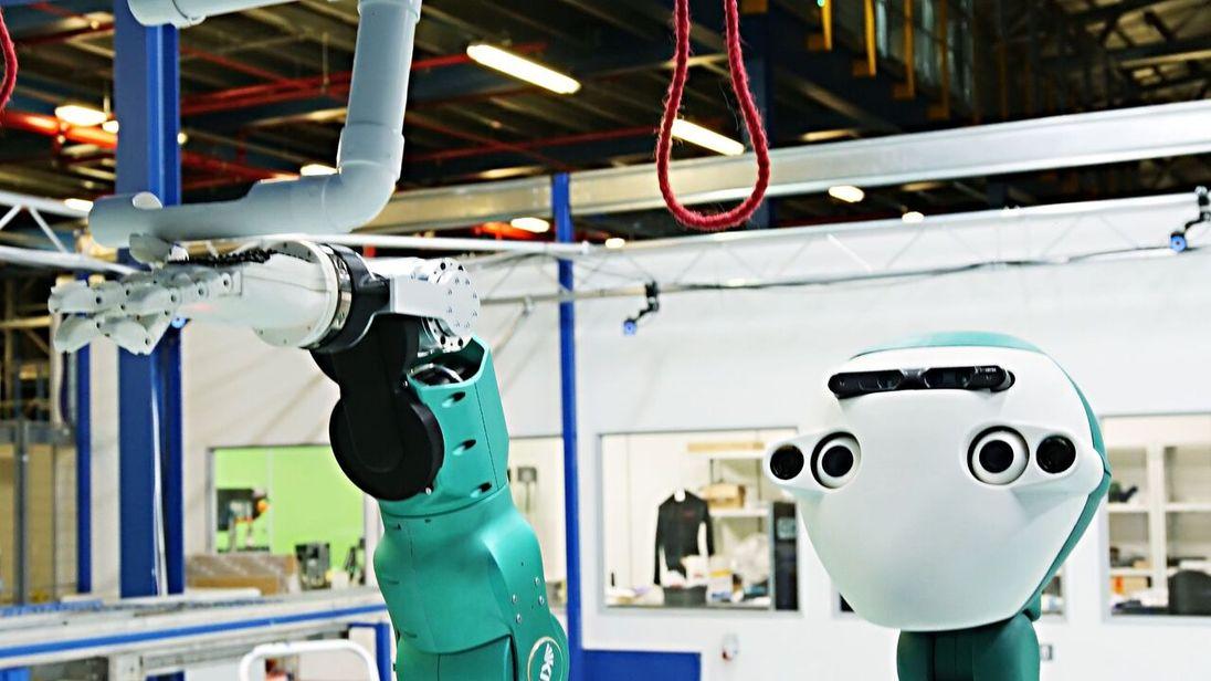 Ocado's 'SecondHands' maintenance robot. Pic: Ocado
