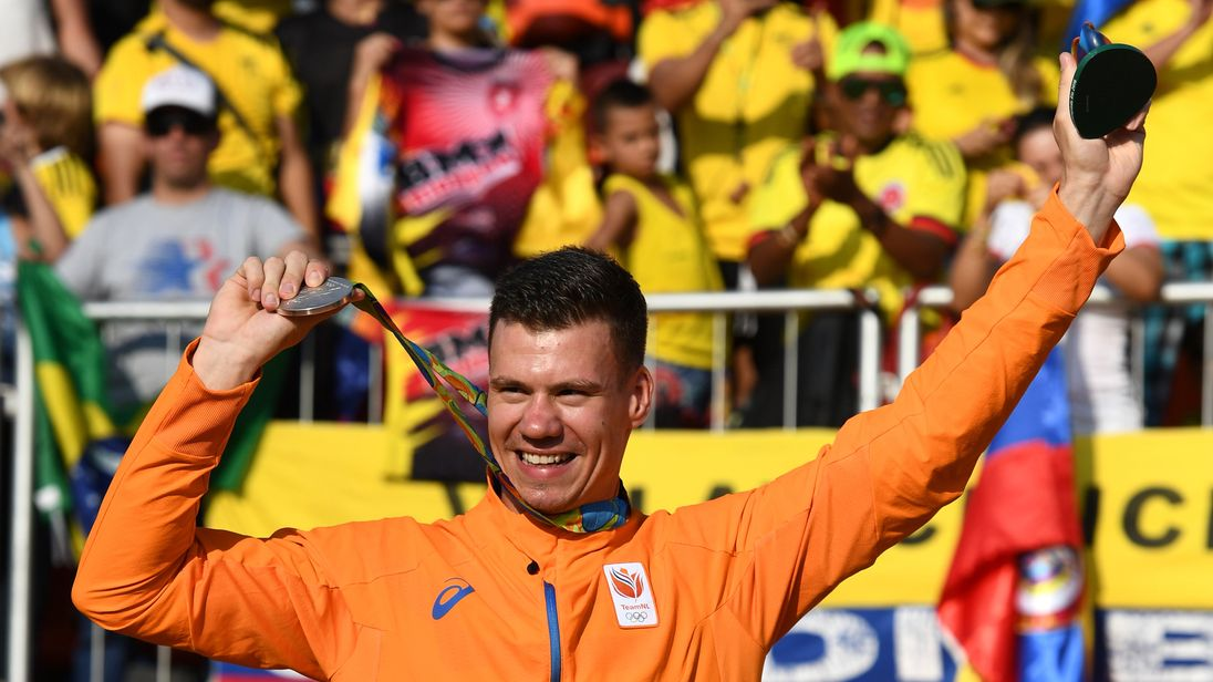 Jelle van Gorkom won a silver medal during the Rio Olympics