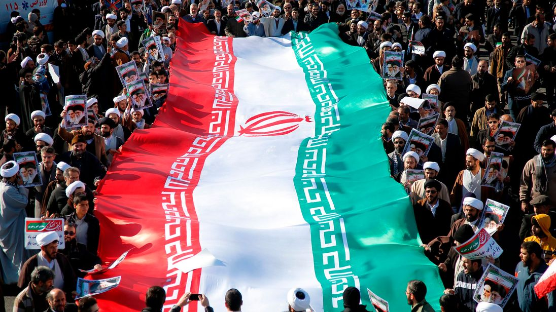 Pro-government rally in Qom
