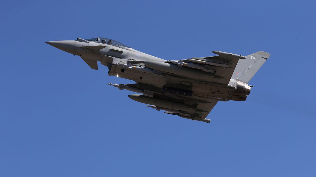 The jets were scrambled from RAF Lossiemouth. File pic