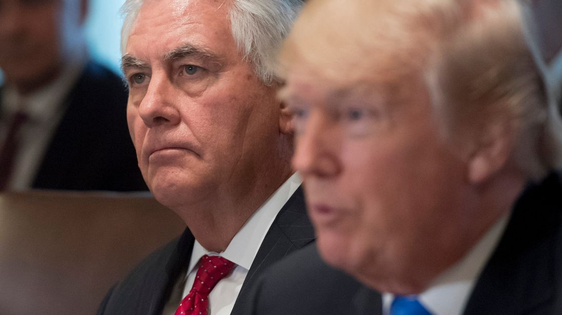 Rex Tillerson and Donald Trump