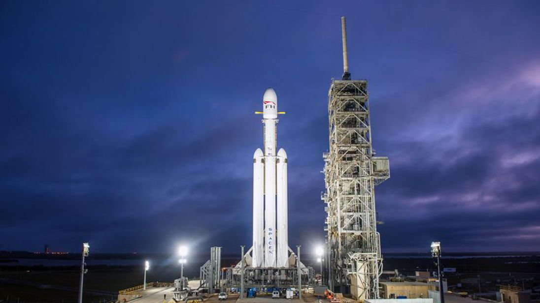 Falcon Heavy. Pic: SpaceX