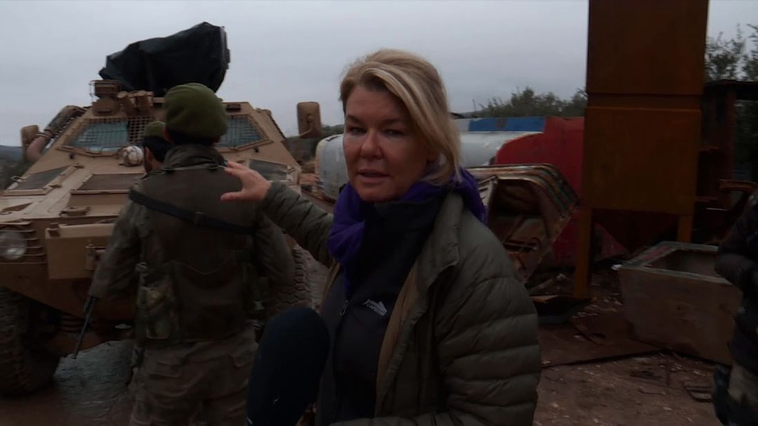 Sky's Alex Crawford joins journalists on an armoured bus to witness Turkey's military operation in Syria - and comes under attack.