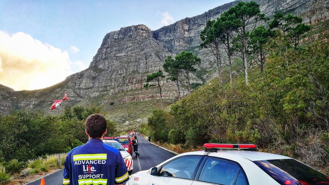 The tourists are thought to have fallen while abseiling. Pic: Twitter/@LimaCharlie1