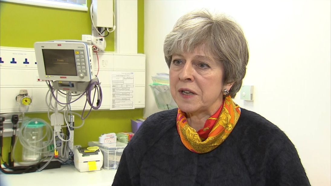 NHS winter crisis: May says 'nothing is perfect'
