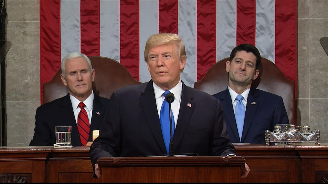 President Trump begins his State of the Union address