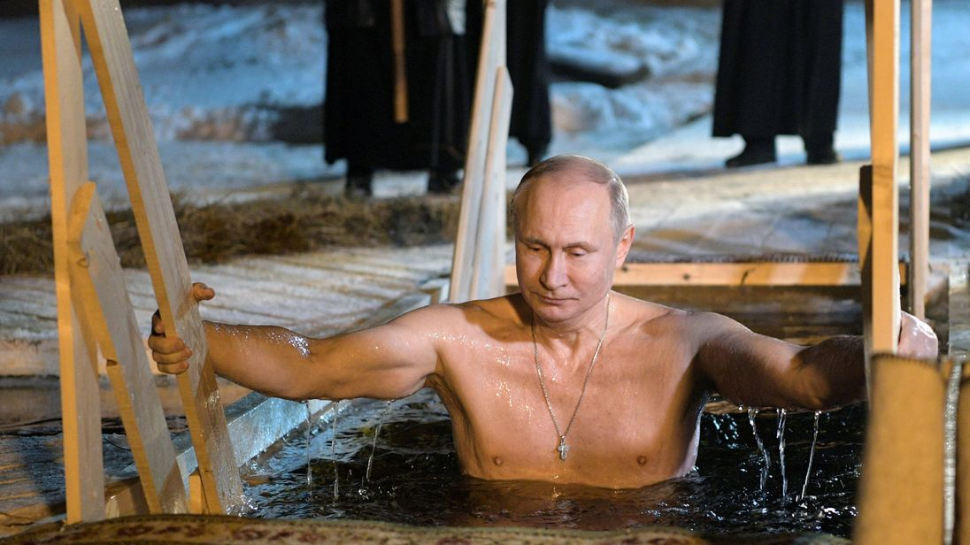 Following Russian Religious Tradition, Putin Takes an Icy Dip on Epiphany