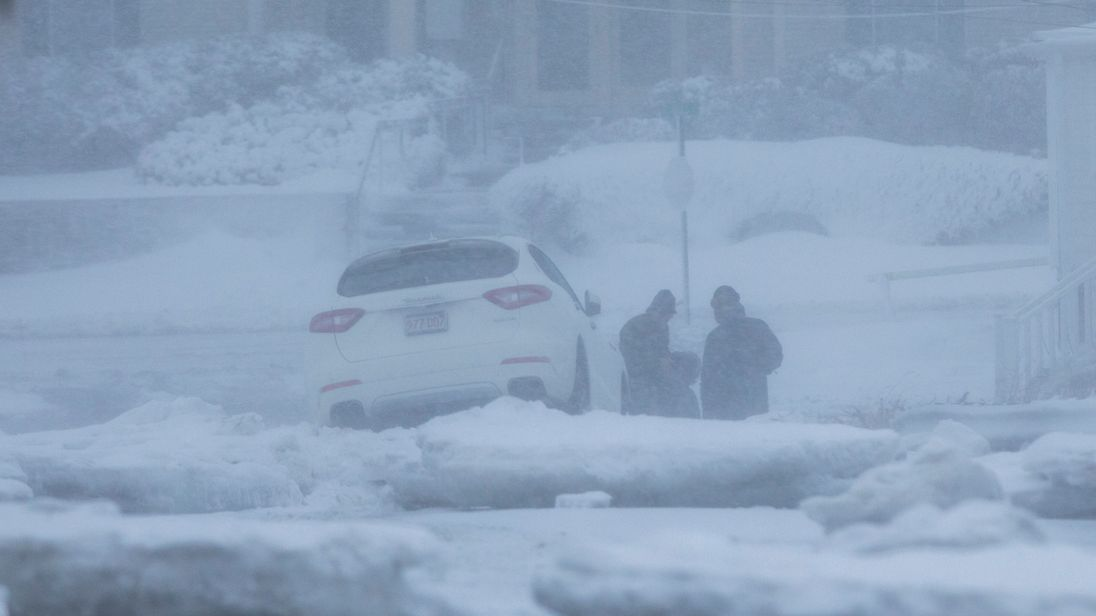 The eastern coast of the United States is feeling the full brunt of a winter storm