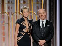 Presenters Sharon Stone and J.K. Simmons
