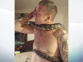 A reptile expert said Dan Brandon was 'obviously experienced' at handling snakes. Pic JustGiving