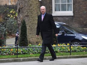 Transport Secretary Chris Grayling arriving in Downing Street
