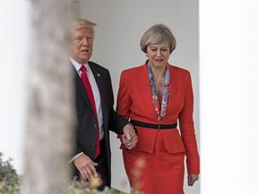 Theresa May and  Donald Trump will meet at the World Economic Forum