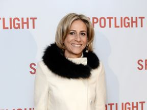 LONDON, ENGLAND - JANUARY 20: Emily Maitlis arrives for the UK Premiere of Spotlight at The Washington Mayfair on January 20, 2016 in London, England. (Photo by Jeff Spicer/Getty Images)