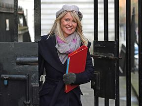 Work and Pensions Secretary Esther McVey leaves 10 Downing Street,