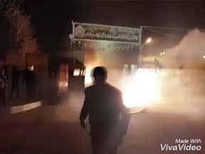 Six rioters were killed during an attack on a police station in the town of Qahderijan