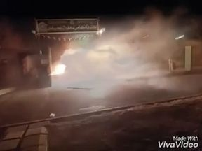 Protests in the Iranian town of Qahderijan